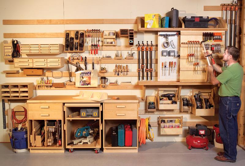 Оборудование домашней мастерской своими руками